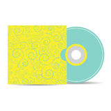 Vector mock up template of blank compact disk with cover Royalty Free Stock Photography