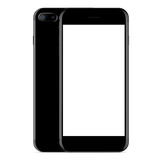 Vector, mockup phone front and side view black color on white Royalty Free Stock Photos