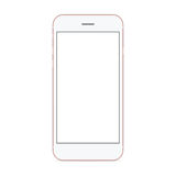 Vector mockup phone front view on white background Stock Photography