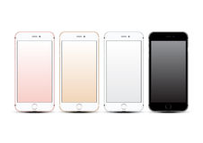 Vector mockups realistic phone set Stock Photography