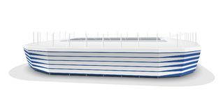 Vector model of Kaliningrad football stadium. Kaliningrad football stadium. Vector illustration isolated on white background Stock Image