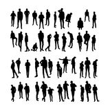 Vector Model Silhouettes of men. Part 8. Stock Photography