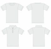Vector. Modelo de la camiseta de los hombres y de la camisa de polo. libre illustration