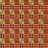 Vector - modelo inconsútil de Inka, fondo del color Fotografía de archivo libre de regalías