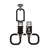 Vector Modem. Authors illustration in vector Stock Photo