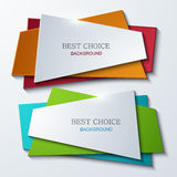 Vector moder banners element design. Stock Image