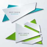 Vector moder banners element design. Royalty Free Stock Images