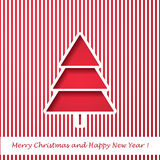 Vector modern abstract Christmas tree background. Linear design. Greeting card with Christmas tree Stock Photos