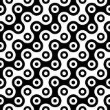 Vector modern abstract geometry circles pattern. black and white seamless geometric background. Subtle pillow and bed sheet design. creative art deco. hipster stock illustration