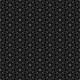 Vector modern abstract geometry floral pattern. black and white seamless background Stock Image