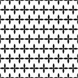 Vector modern abstract geometry floral pattern. black and white seamless geometric background Royalty Free Stock Image