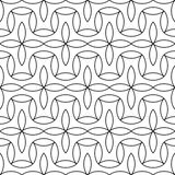 Vector modern abstract geometry floral pattern. black and white seamless geometric background Royalty Free Stock Photo