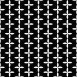 Vector modern abstract geometry floral pattern. black and white seamless geometric background Royalty Free Stock Images