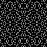 Vector modern abstract geometry grid pattern. black and white seamless geometric background. Subtle pillow and bed sheet design. creative art deco. hipster Royalty Free Illustration