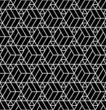 Vector modern abstract geometry grid pattern. black and white seamless geometric background. Subtle pillow and bed sheet design. creative art deco. hipster Vector Illustration