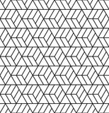 Vector modern abstract geometry grid pattern.. Black and white seamless geometric background . subtle pillow and bed sheet design. creative art deco. hipster Stock Illustration