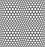 Vector modern abstract geometry hexagon pattern. black and white seamless geometric background Stock Image