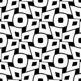 Vector modern abstract geometry squares pattern. black and white seamless geometric background Royalty Free Stock Photography
