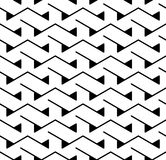 Vector modern abstract geometry triangle pattern. black and white seamless geometric background. Subtle pillow and bed sheet design. creative art deco Stock Photography