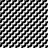 Vector modern abstract geometry waves pattern. black and white seamless geometric background Stock Photos