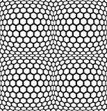 Vector modern abstract meetkunde hexagon patroon zwart-witte naadloze geometrische achtergrond Stock Afbeelding