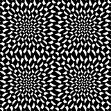 Vector modern abstract meetkunde psychadelic patroon zwart-witte naadloze geometrische gekke achtergrond stock illustratie