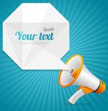 Vector modern Abstract megaphone speech bubble Royalty Free Stock Images