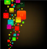 Vector modern abstract square infographics Stock Photo