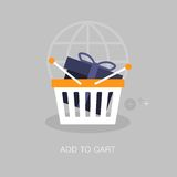 Vector modern add to cart concept illustration Stock Image