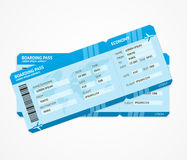 Vector Modern Airline boarding pass tickets. Isolated on white Royalty Free Stock Photography