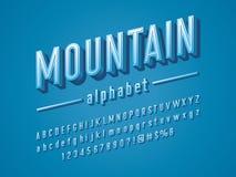 3D modern font stock illustration