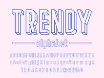 Hipster font stock illustration