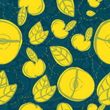 Vector modern apple fruit seamless pattern with Stock Photo