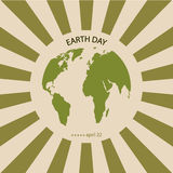 Vector modern april 22 earth day background. Royalty Free Stock Image