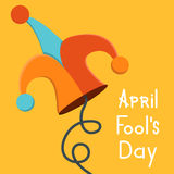 Vector modern april fools day. Stock Image