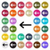 Vector modern Arrow flat design icon set in button.  Royalty Free Stock Photos