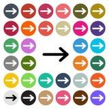 Vector modern Arrow flat design icon set in button.  Stock Photos