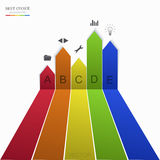 Vector modern arrow infographic element design. Royalty Free Stock Photos