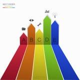 Vector modern arrow infographic element design. Eps10 stock illustration