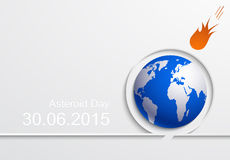 Vector modern asteroid day background. Royalty Free Stock Photography
