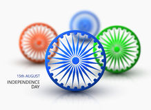 Vector modern 15 august happy independence day. Eps10 Royalty Free Stock Images