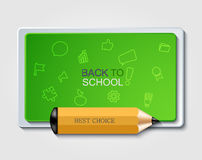 Vector modern back to school background. Royalty Free Stock Photos