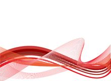 Vector modern background. With red waves Royalty Free Stock Photography