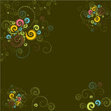 Vector modern background twirls Royalty Free Stock Images