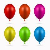 Vector modern balloons set on white Stock Photo
