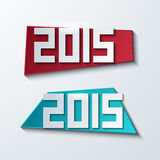 Vector modern 2015 banners. new year background. Stock Photos