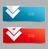 Vector modern banners Royalty Free Stock Images