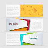 Vector modern banners set on gray background. Stock Images