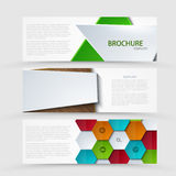 Vector modern banners set on gray background. Stock Photography