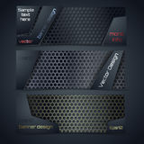 Vector modern banners set with texture Royalty Free Stock Images